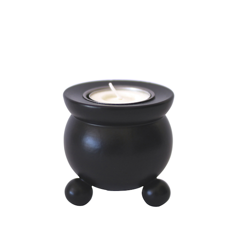 Candle holder t-light Pot Belly Black