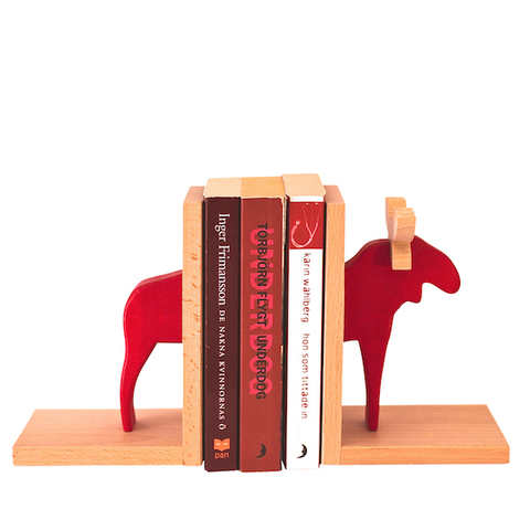 Bookends Moose Red