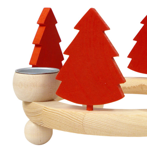 Christmas tree Large for candle wreath Red