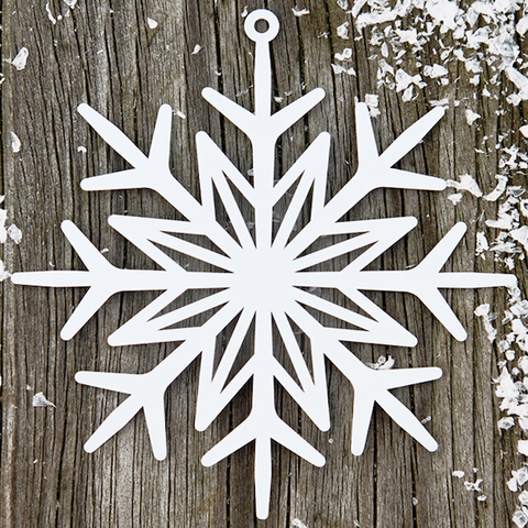 Decor Hanging Snowflake White