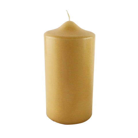 Pillar candle light beige