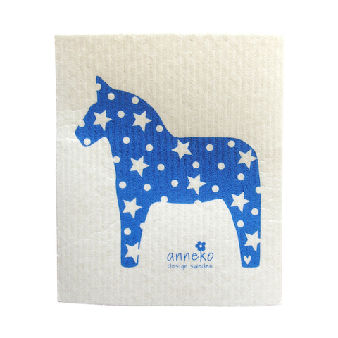 Dishcloth Blue Horse