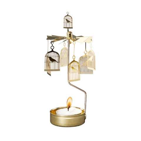 Rotary Candle Holder Bird Cage