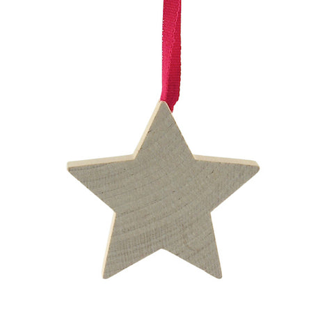 Star Medium hanging decor Natural/Red