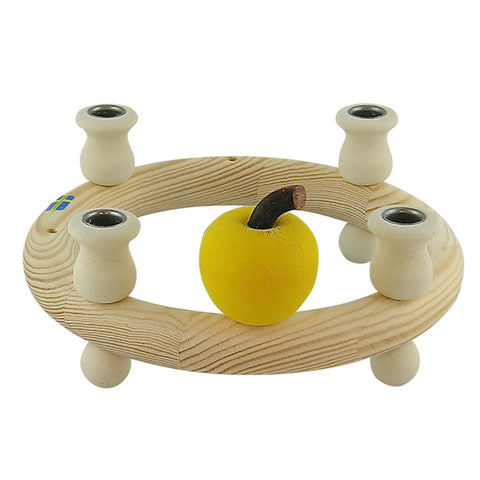 Apple small for candle wreath yellow