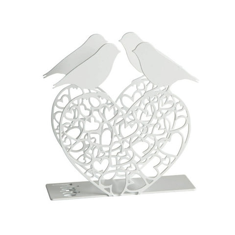 Napkin Holder Love Birds White