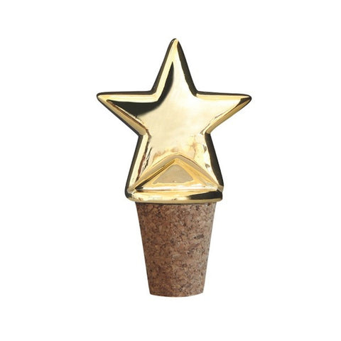 Bottle Stopper Star Gold