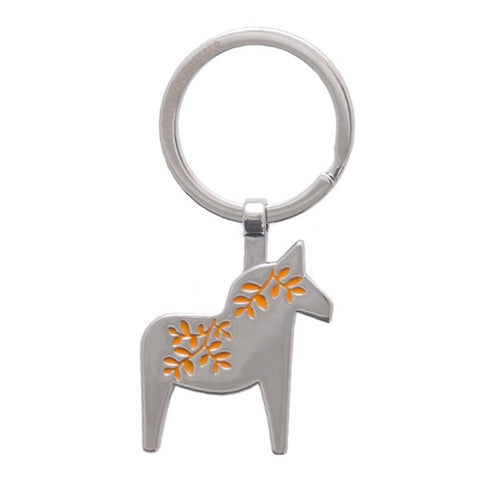 Keyring Horse Orange/Silver