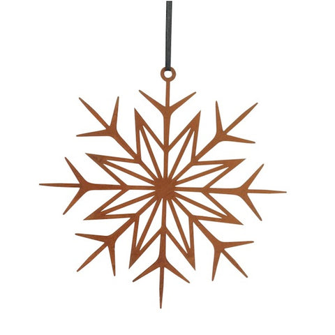 Decor Hanging Snowflake Rustic