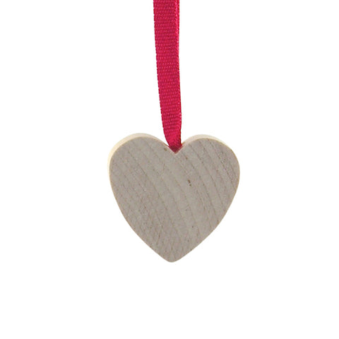 Heart Mini hanging decor Natural/Red