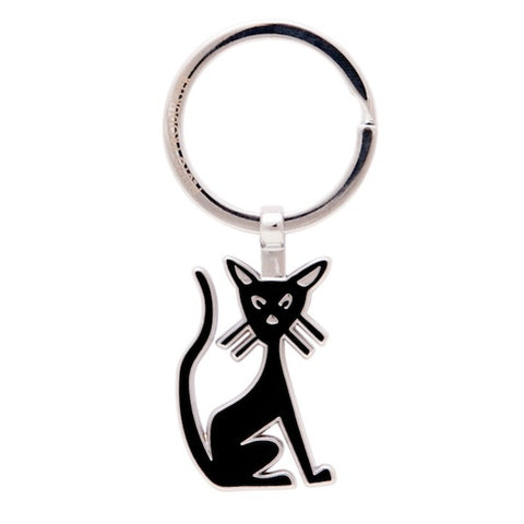 Keyring Cat Black