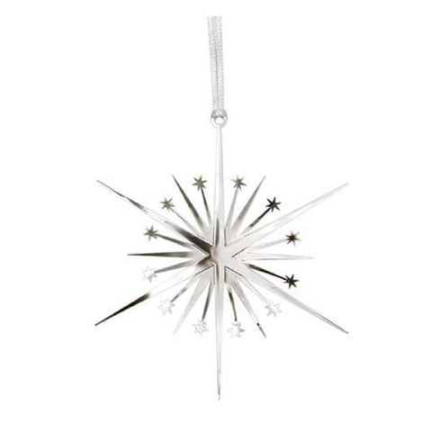 Decor hanging Star silver