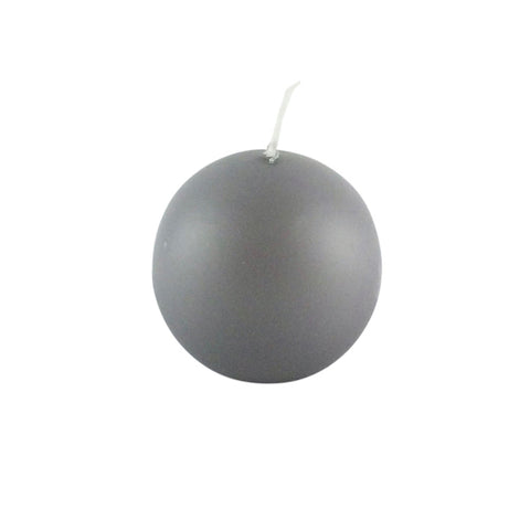 Ball candle grey