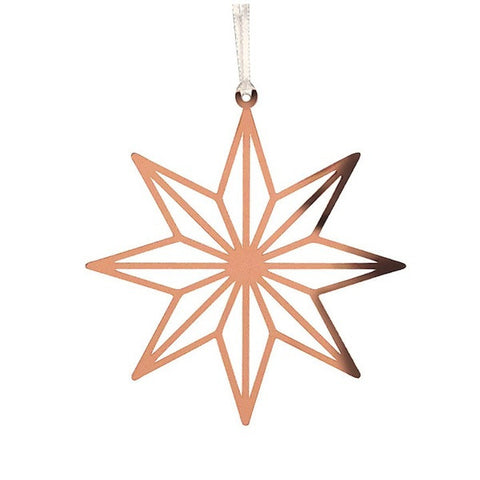 Decor hanging star 8 point copper