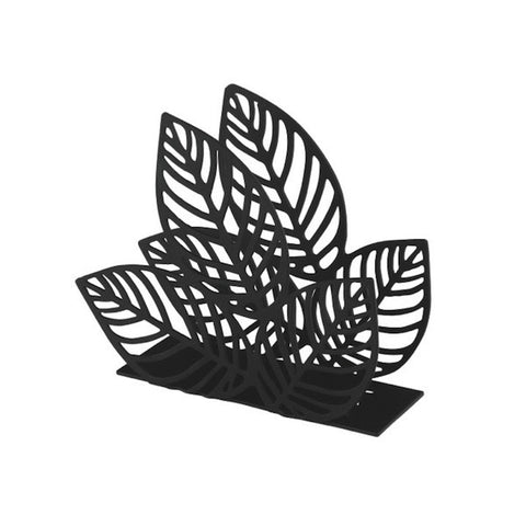 Napkin Holder Leaf Black