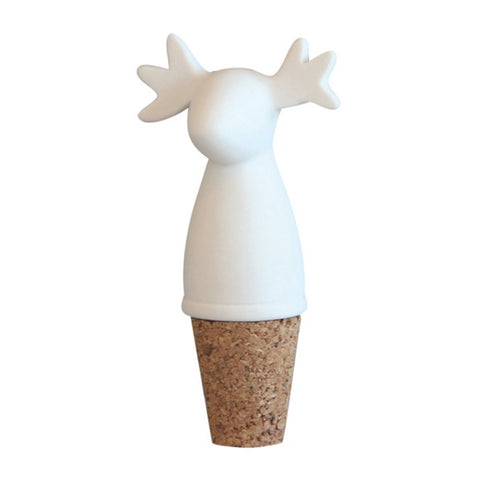 Bottle Stopper Moose White