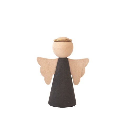 Angel with wings dark grey