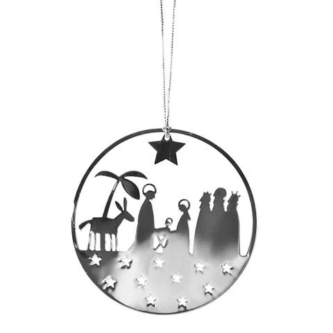 Shiny Hanging Decor Nativity