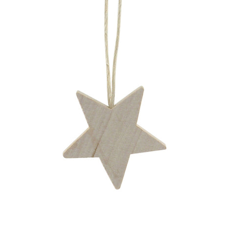 Star Mini hanging decor Natural/Twine