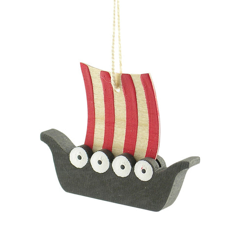 Viking ship hanging decor