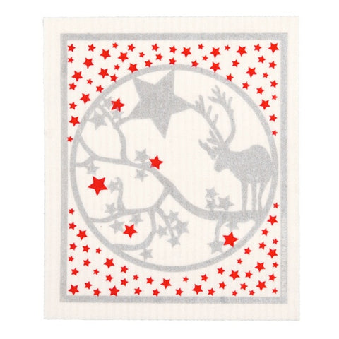 Dishcloth Reindeer/Stars