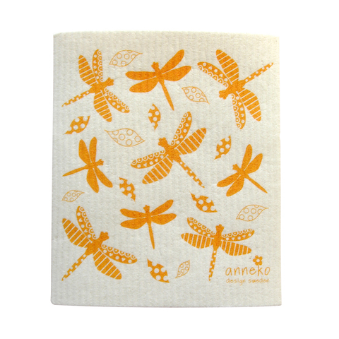 Dishcloth Dragonfly Orange