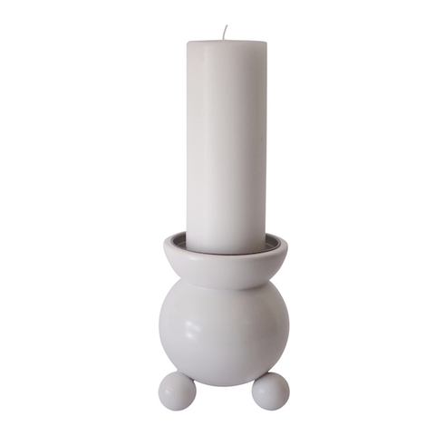 Candle holder Pot Belly X-Large White
