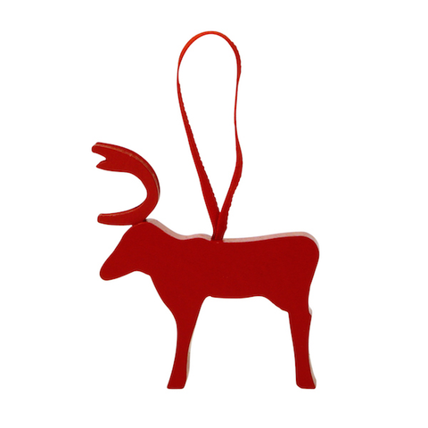 Reindeer hanging decor Red Lacquer