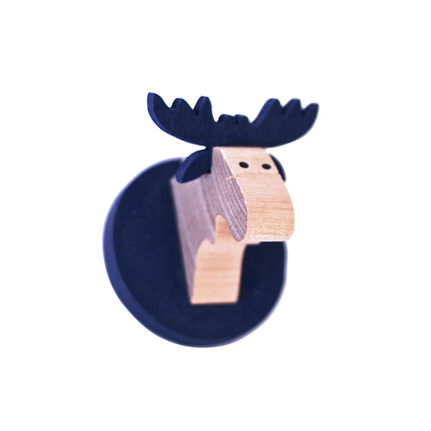 Magnet Moose head Blue