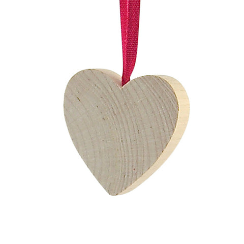 Heart Medium hanging decor Natural/Red