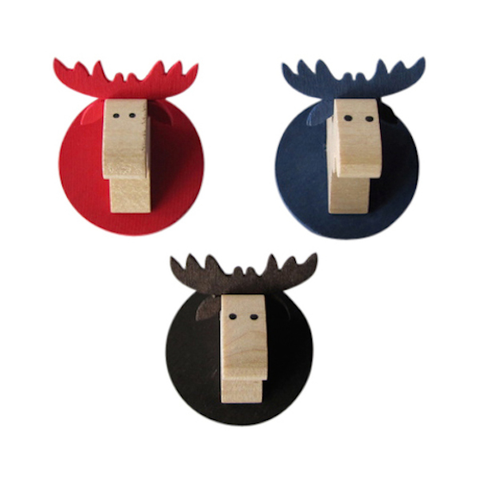 Magnet Moose head Brown
