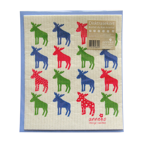 Dishcloth Card Moose