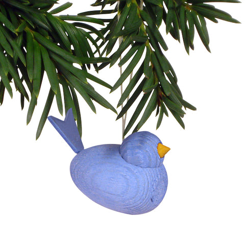 Bird hanging light blue