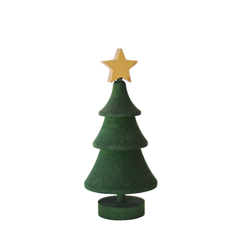 Christmas Tree with star Green/Gold