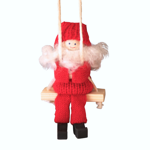 Santa Boy on Swing hanging decor