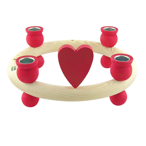 Heart for candle wreath Red
