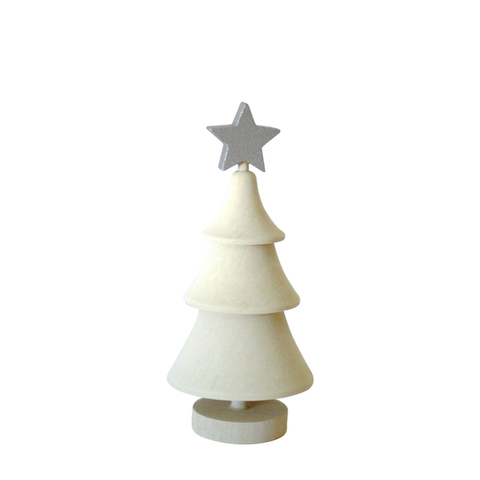 Christmas Tree with star White/Silver