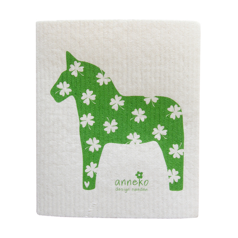 Dishcloth Horse Green