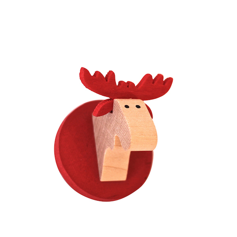 Magnet Moose head Red