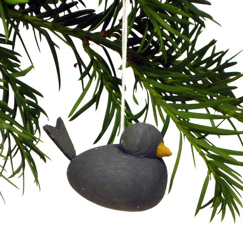 Bird hanging dark grey