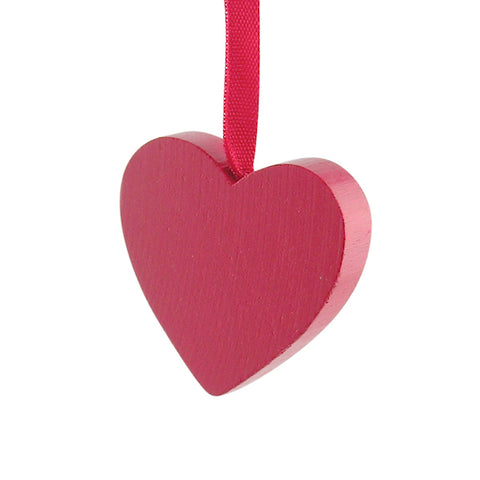 Heart Medium hanging decor Red