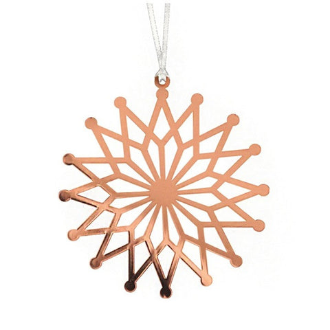 Decor hanging flower star copper