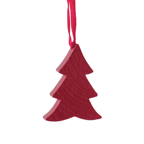 Christmas Tree flat hanging decor Red