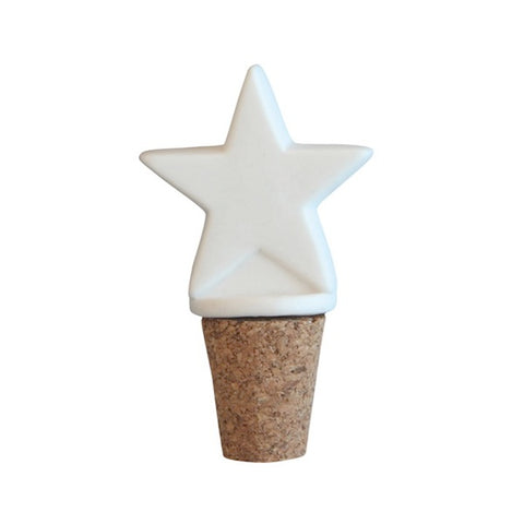 Bottle Stopper Star White