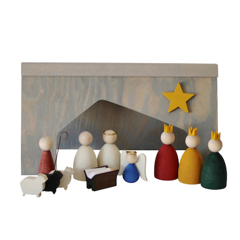 Nativity scene and shepard set