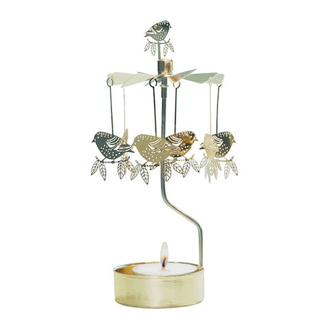 Rotary Candle Holder Sparrow