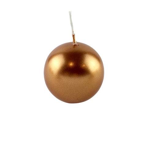 Ball candle copper