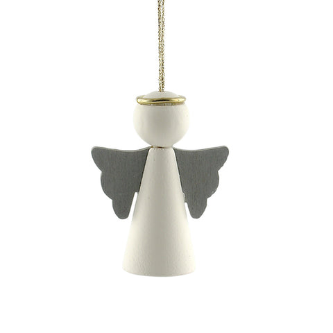 Hanging Angel with wings white/grey