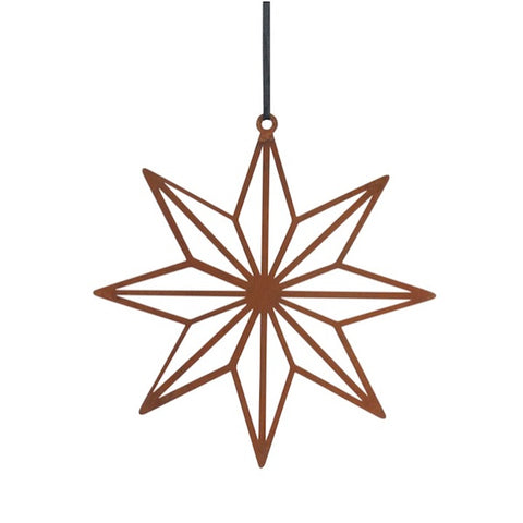 Decor Hanging Star 8 Point Rustic