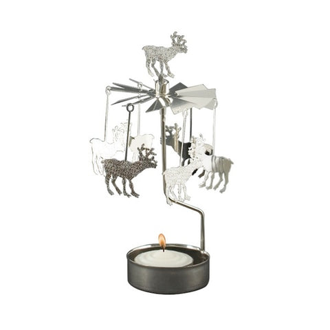 Rotary Candle Holder Reindeer